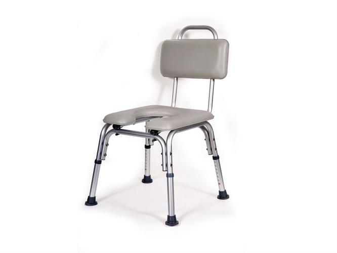 כסא רחצה מרופד טלסקופי וקל משקל