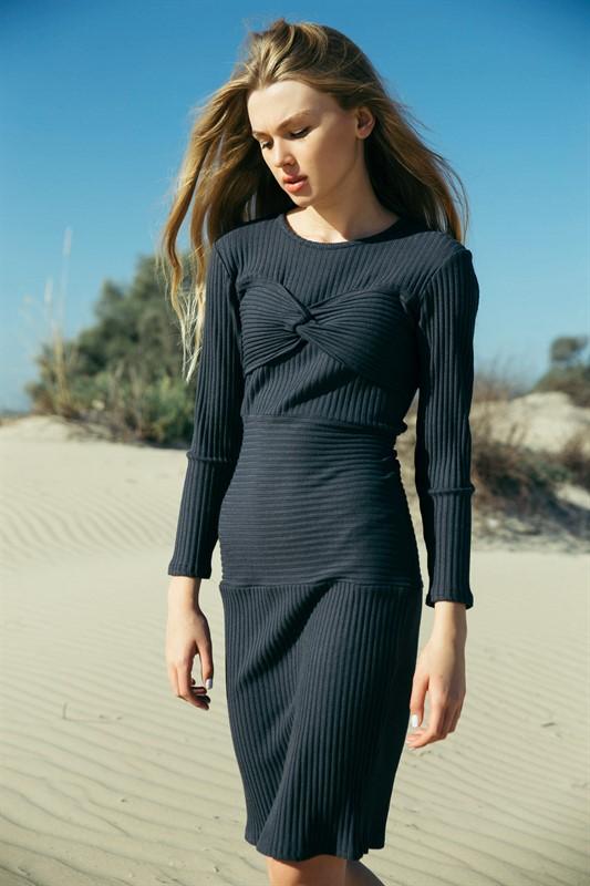 שמלת סלין אפור