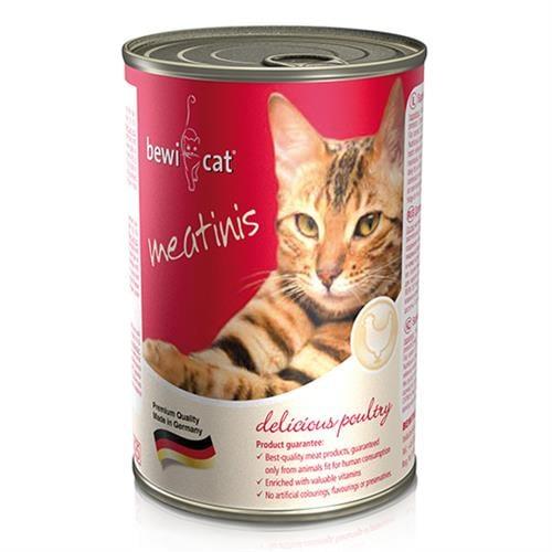 שימורי מזון חתולים Bewi Cat – עוף 400 גרם