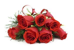 10 ורדים אדומים בעטיפה ייחודית