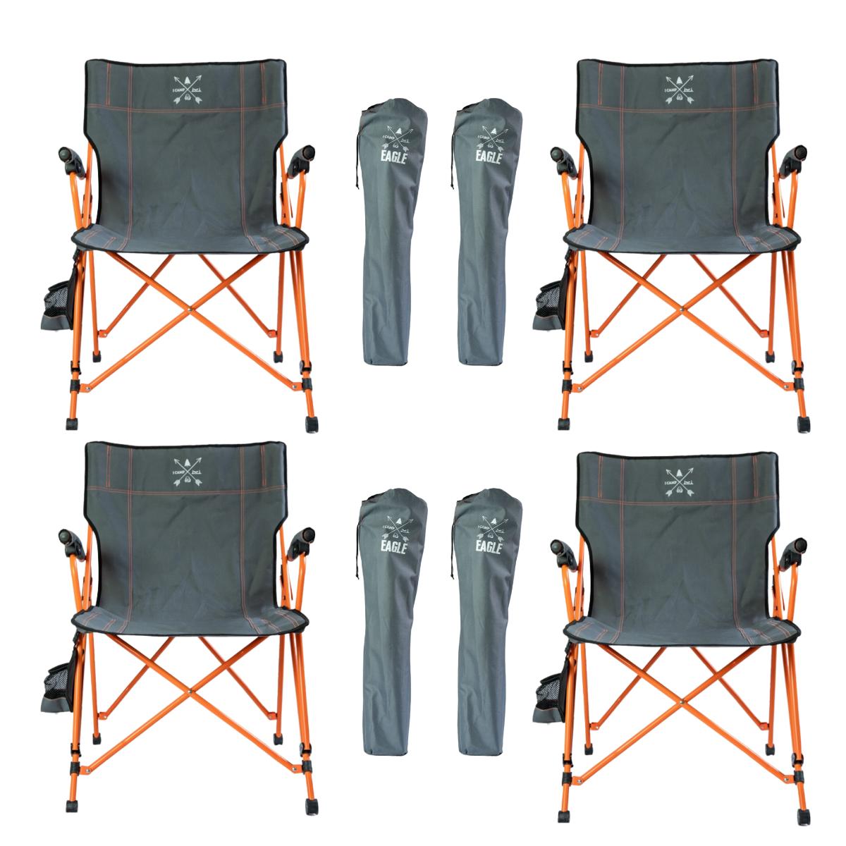 4 יח' כסא קמפינג מתקפל I CAMP EAGLE