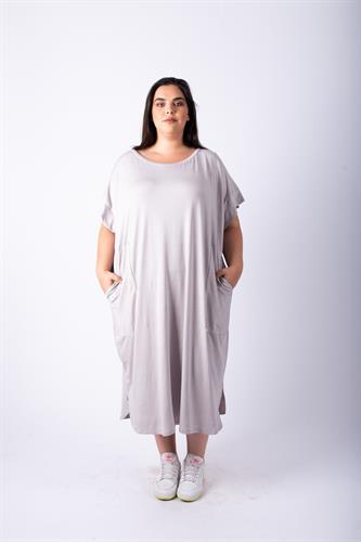שמלת אן פסים אפורה