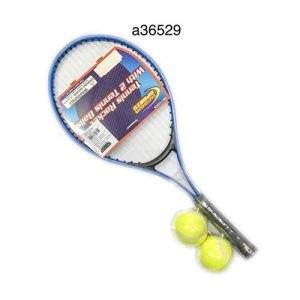 סט מחבט טניס עם 2 כדורים