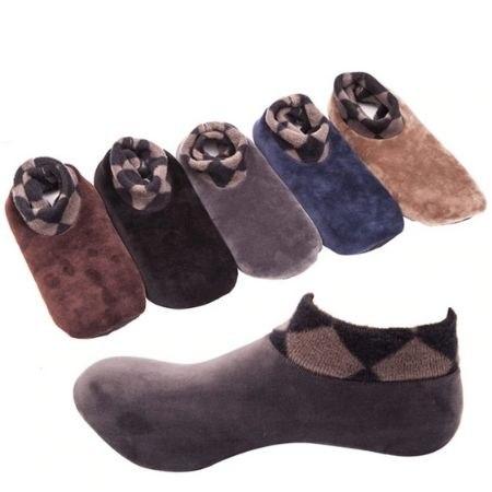 גרביים טרמיות עבות עם סוליה למניעת החלקה