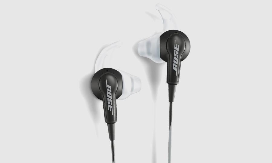 אוזניות חוטיות Bose SoundTrue InEar, מכילות את פטנט StayHear המבטיח מיקום טוב בתוך האוזן ללא תזוזה