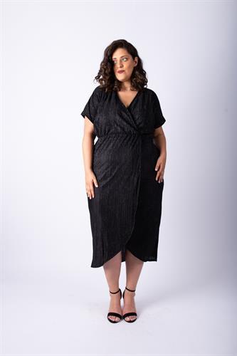 שמלת לורנה פליסה נצנצים