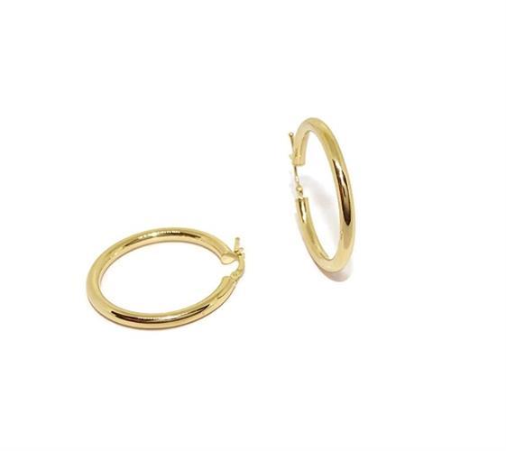 עגילי חישוק זהב בינוניים 3.6 סמ