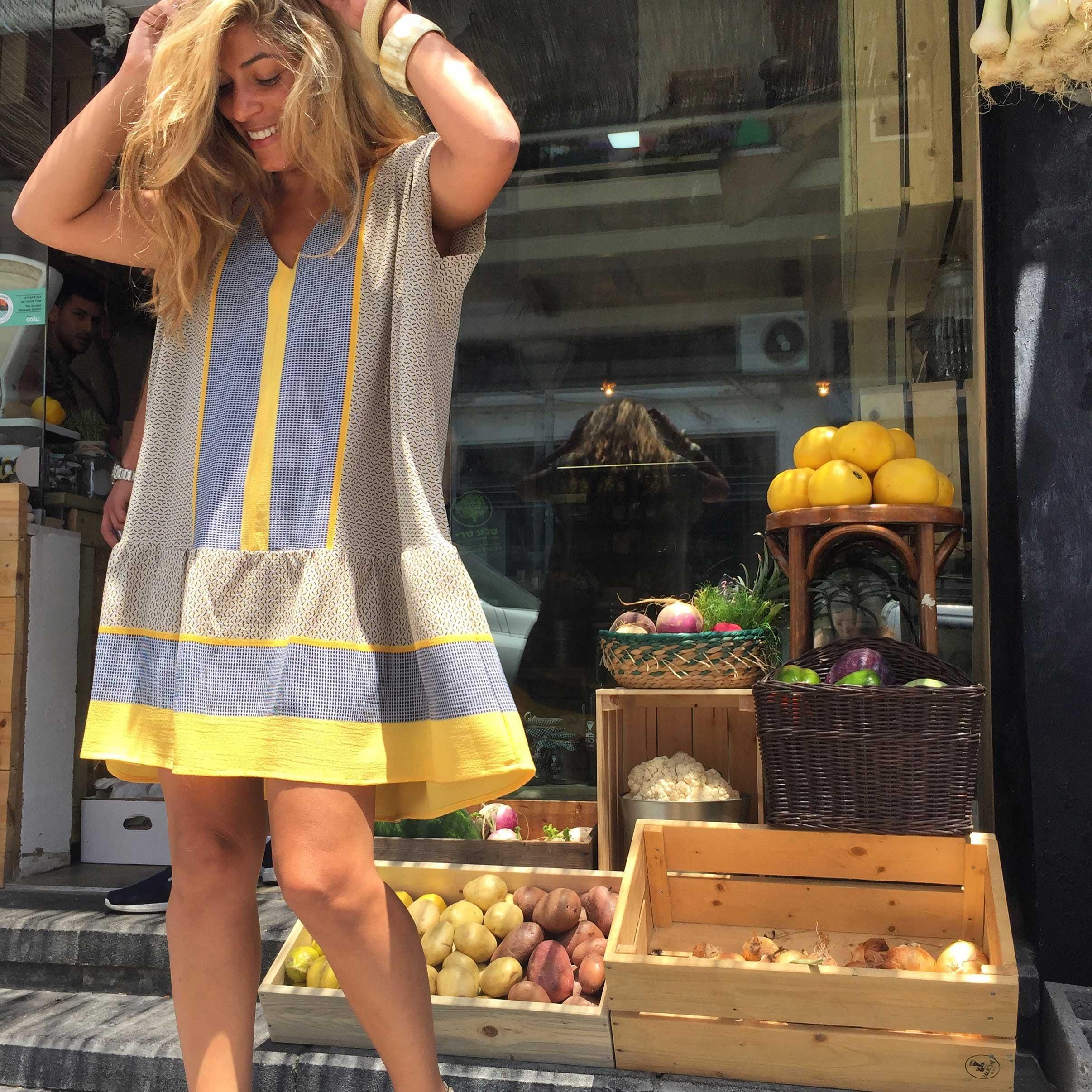 שמלת רוד צהוב