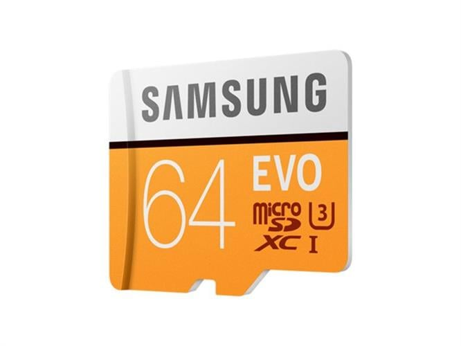 כרטיס זיכרון MicroSDXC samsung EVO Memory Card Adapter 64GB U3 ומתנה