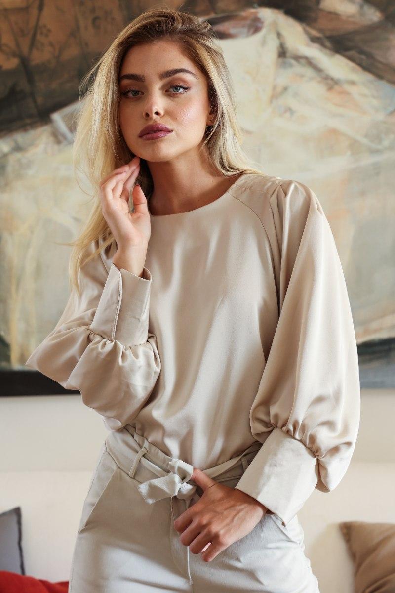 חולצת סאטן אנה אופייט