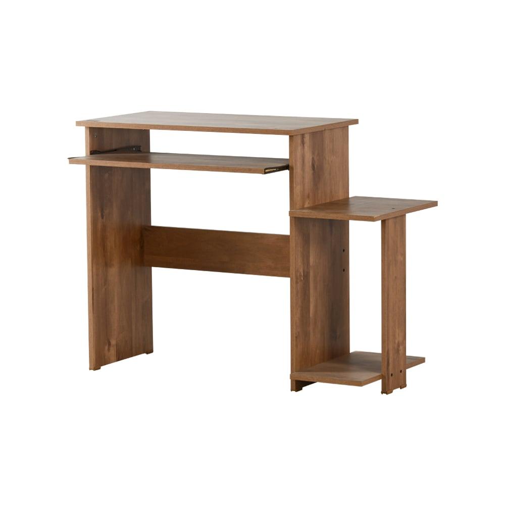 שולחן מחשב עם מדף למדפסת