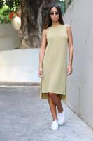 שמלת סריג רביד שסעים