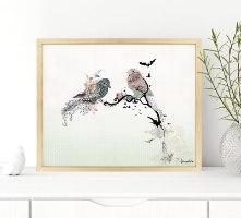 ציור של ציפורים