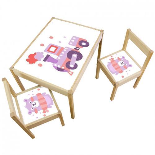 3 יח' טפט דביק מותאם לשולחן וכסאות (LATT)-טרקטור