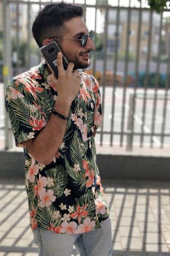 חולצת אסקובר פרחוני