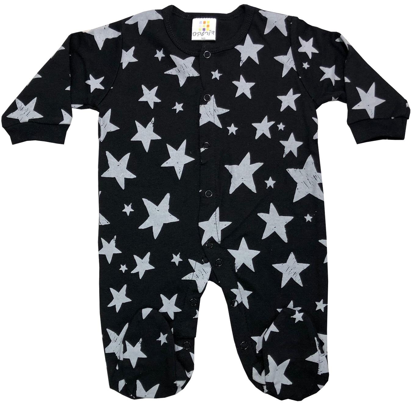 אוברול כותנה כוכבים שחור