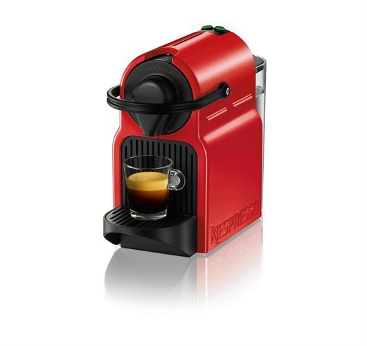 מכונת קפה Nespresso Inissia C40 צבע אדום כולל מיקס 50 קפסולות מתנה