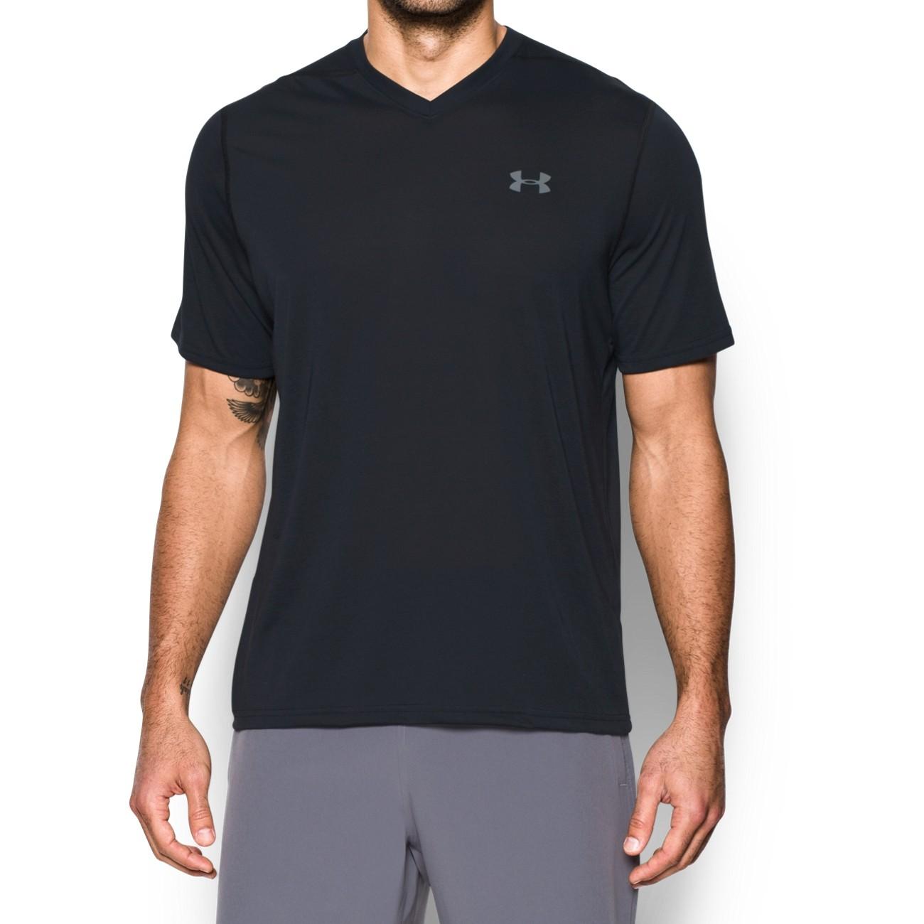 חולצת אימון ש קצר וי  אנדר ארמור 1253534-001
