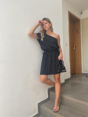שמלת איביזה שחורה JOYAME
