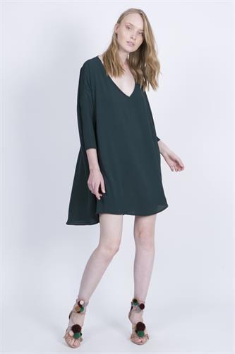 שמלת קיילי ירוק בקבוק