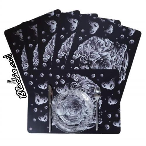 6 פליסמנטים הדפס גראפי מגמון