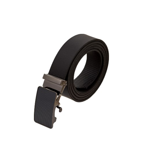 חגורה עור קלאץ שחור אבזם מושחר קלאסי
