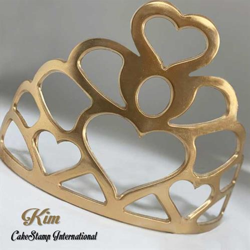 Kim - Tiara Big Chocolate mold | Crown DIY Sugarcraft Fondant Chocolate Mold Decorating Tools