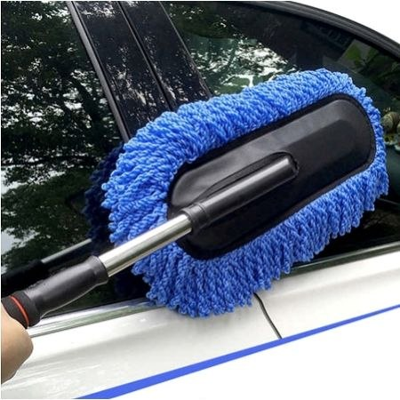 סמרטוט מיוחד לשטיפת הרכב עם ידית מתכווננת