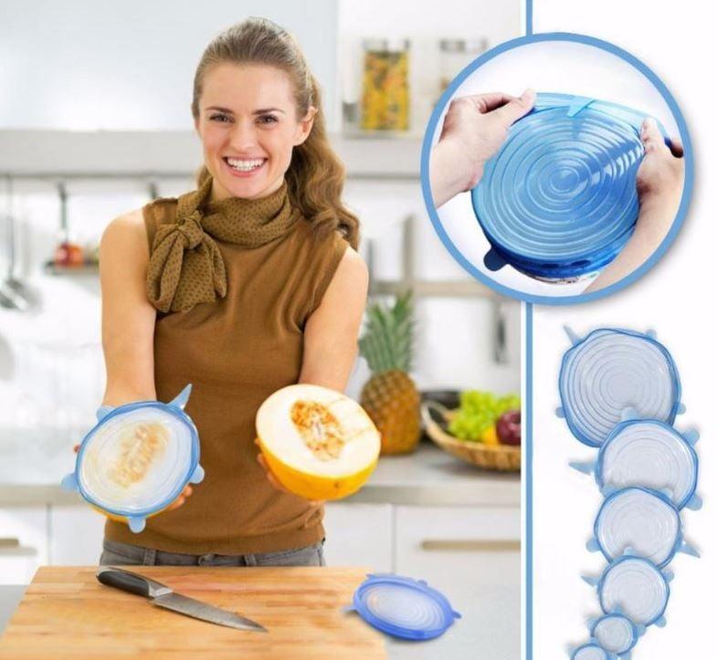 סט 6 יחידות סיליקון אוניברסלי לכל כלי במטבח!