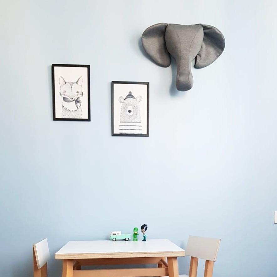 ראש פיל לתליה על הקיר