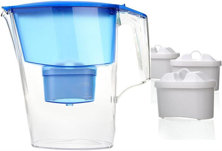 קנקן טיהור מים Aquaphor ו-4 סננים תואם בריטה מתאים למכונות קפה