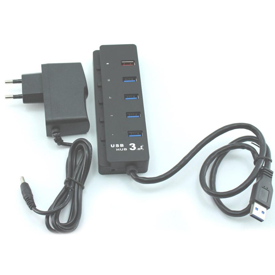 HUB USB3.0 4PORT + POWER SUPPLY E-USB3.0-HUB4-A