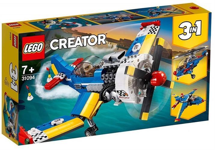 לגו CREATOR 3 ב- 1 מטוס מירוץ 31094