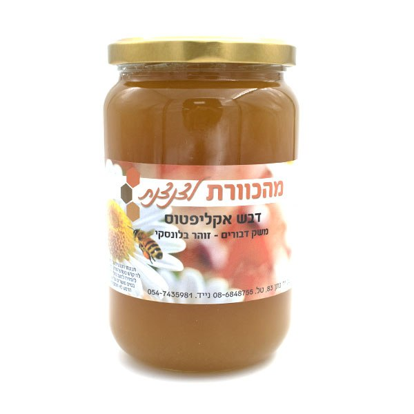 "דבש אקליפטוס טבעי 0.5 ק""ג"