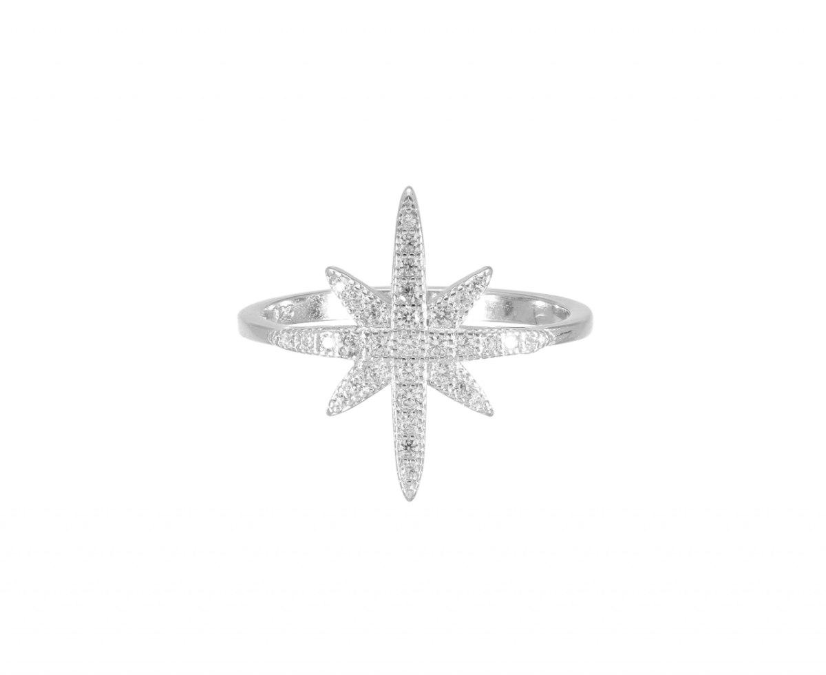 טבעת כסף  כוכב הצפון