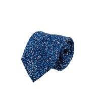 עניבה מודפסת זיקוקים כחול תכלת