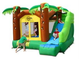 מתקן קפיצה טיפוס וגלישה בג'ונגל הפי הופ - 9164 - Jungle Climb And Slide Bouncy House Happy Hop