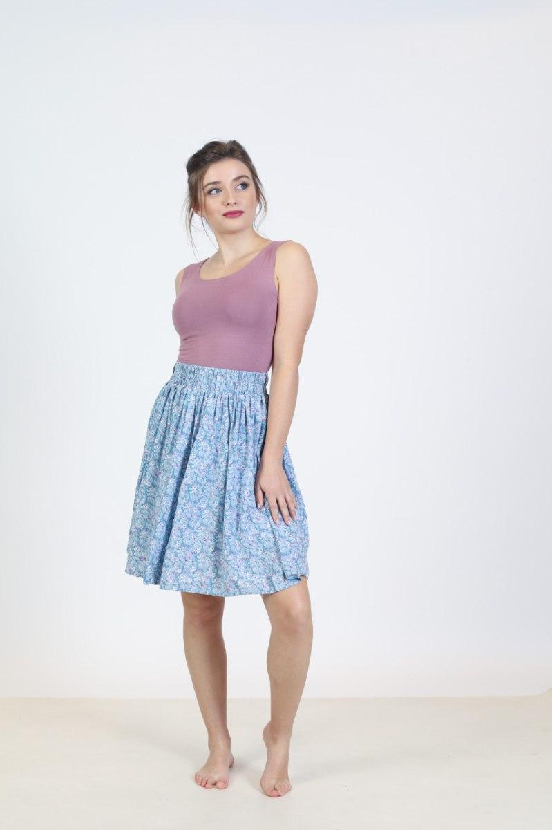 חצאית כותנה קצרה