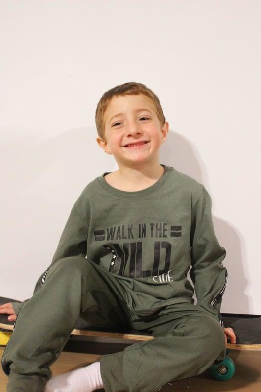 חליפת לייקרה לילד - WALK IN THE WILD - מידות 2,4,6,8