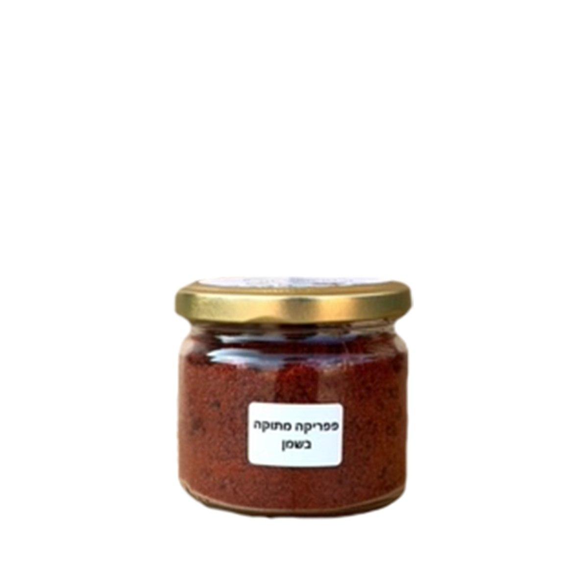 צנצנת פפריקה מתוקה בשמן 100 גרם