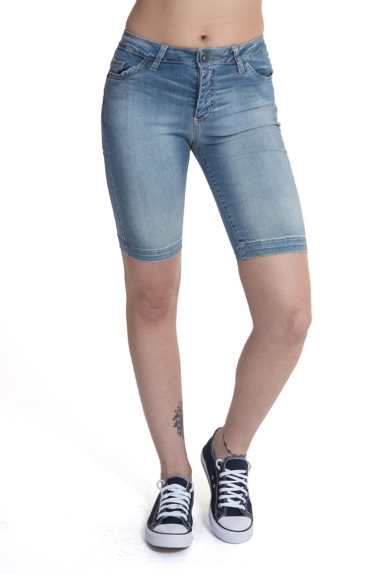 ג'ינס ברמודה משופשף