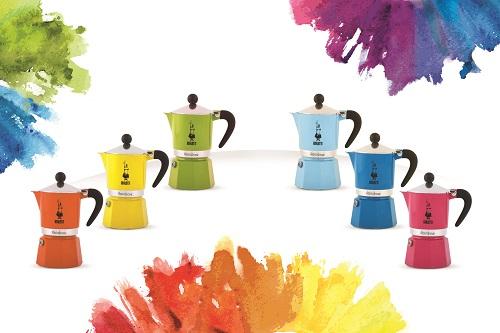 מקינטה אלומיניום 6 כוסות צבעוני דגם BIALETTI