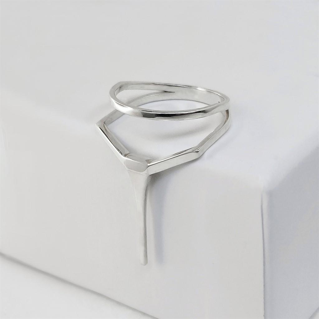 טבעת Double Line כסף