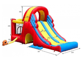 9082 - מתקן קפיצה מגה מגלשה הפי הופ - Mega Slide Combo Bpuncer Happy Hop - קפיץ קפוץ