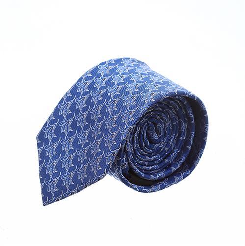 """עניבה """"פרח גביע"""" כחול"""