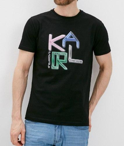 גברים | KARL LAGERFELD T-SHIRT COLOURFUL BLACK