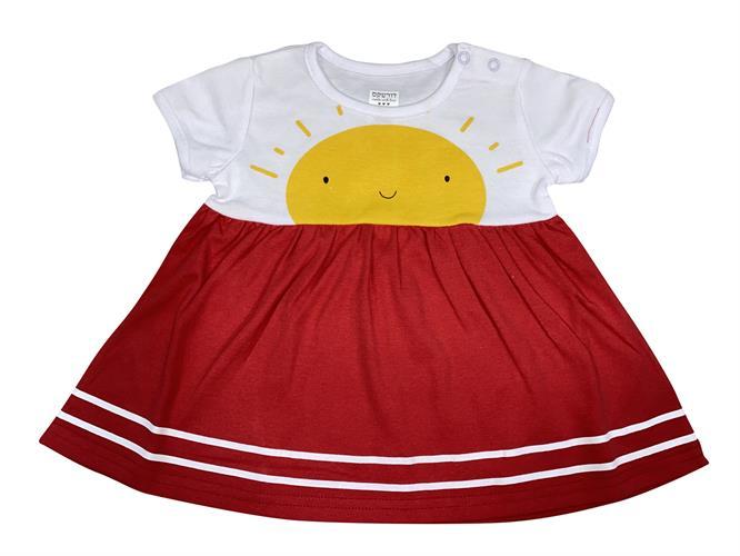 שמלה שמש אדום