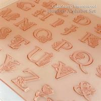 Alphabet Flowery letter stamps | 2 cm high | Rubber pottery letter stamps