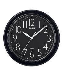 שעון קיר קסיו שחור עגול IQ-01S-1DF