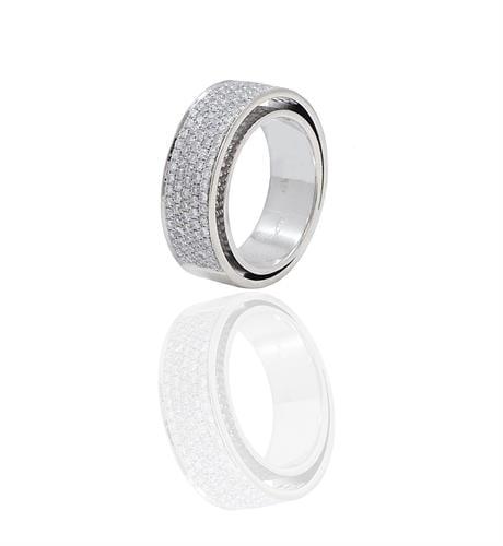 טבעת בתוך טבעת בזהב ויהלומים 1.35 קראט